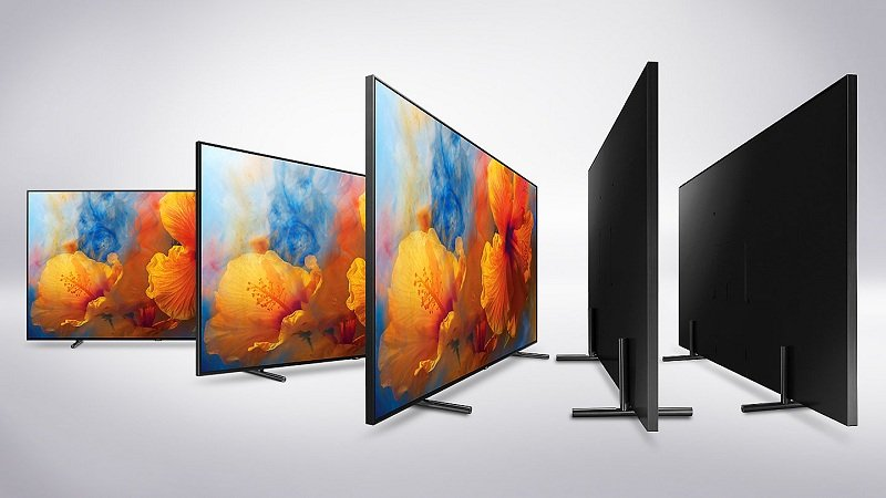 Thiết kế tinh tế của thiết bị tivi Samsung QA65Q9F