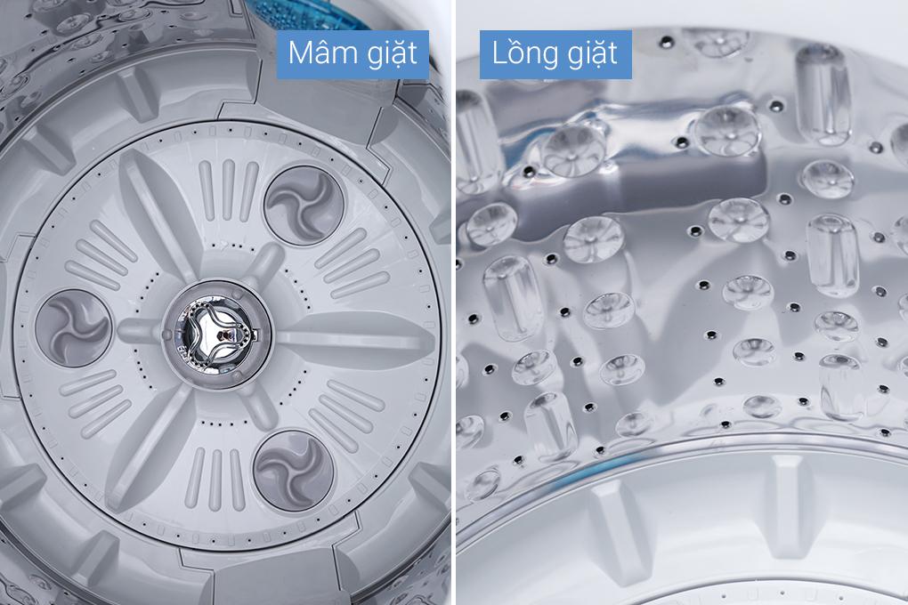 Lồng và mâm giặt chống gỉ với máy giặt LG T2350VSAW