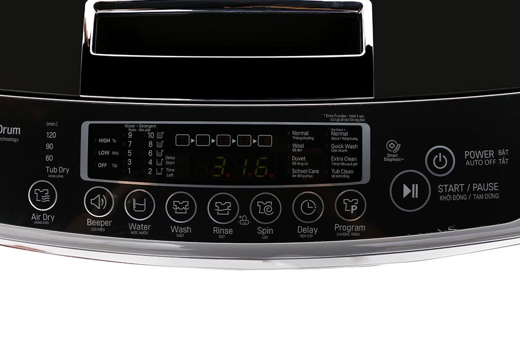 Chức năng hẹn giờ giặt tiện dụng với máy giặt 9,5 kg T2395