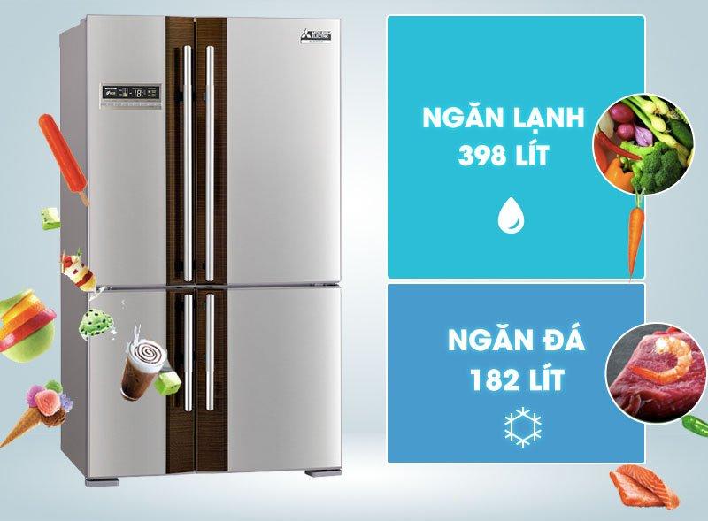 Tủ lạnh có dung tích lên đến 580 lít