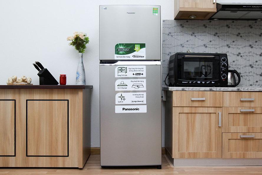 Tủ lạnh Panasonic NR-BL268PSVN thiết kế kiểu dáng sang trọng và hiện đại