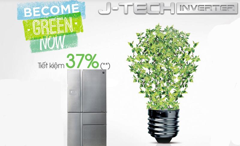 Tiết kiệm điện đến 37% với công nghệ J-Tech Inverter