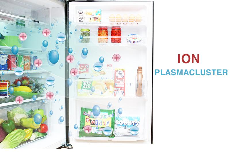 Công nghệ Plasmacluster Ion độc quyền của tủ lạnh SJ-XP590PG-BK