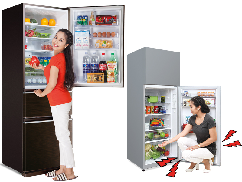 Người dùng có thể thoải mái lấy thực phẩm bảo quản trong tủ