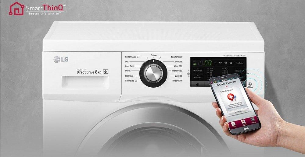 Công nghệ thông minh của máy giặt LG 7 kg F1407NMPW