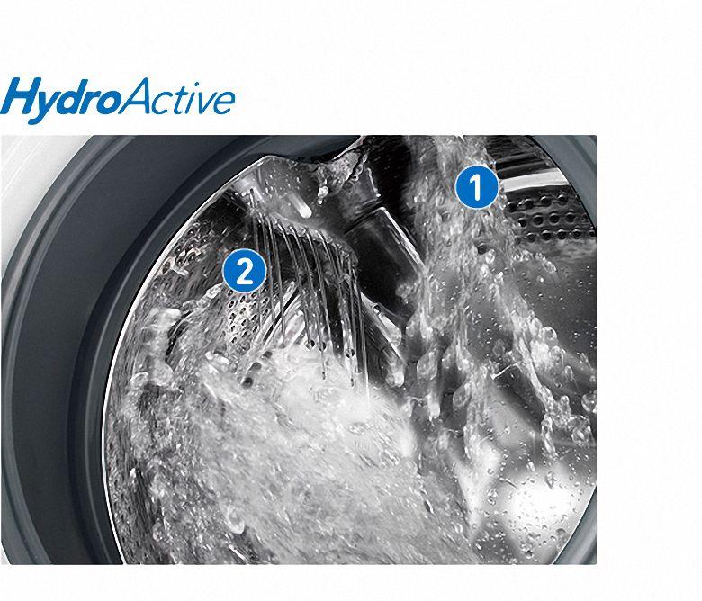 Công nghệ hiện đại HydroActive của máy giặt lồng ngang dưới 10 triệu