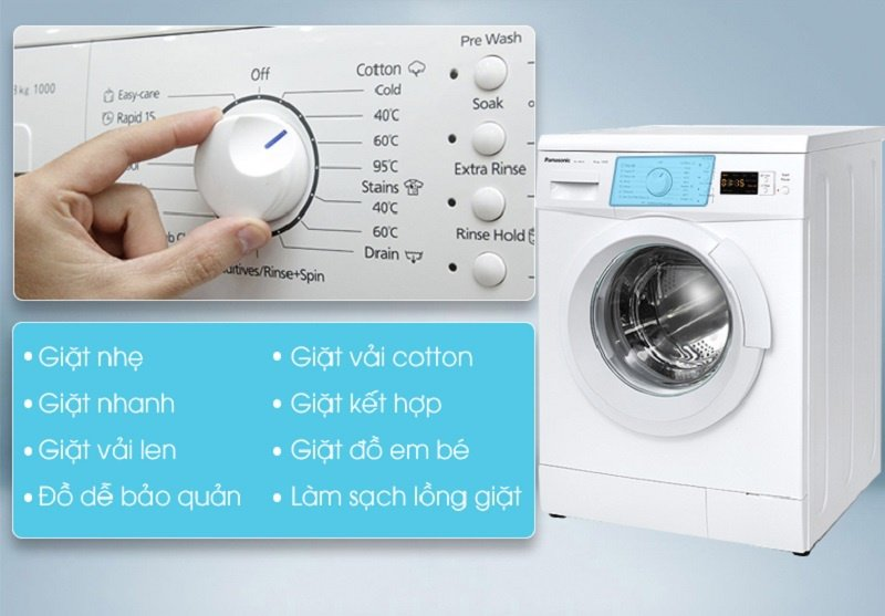 Các chương trình giặt trong máy giặt Panasonic 8 kg NA-108VK5WVT
