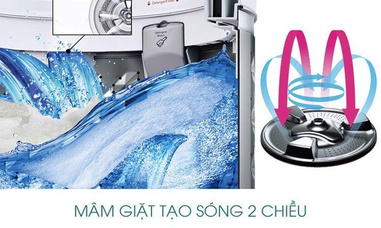 Máy giặt Panasonic 9kg NA-F90A1WRV mang đến hiệu quả giặt cao nhất
