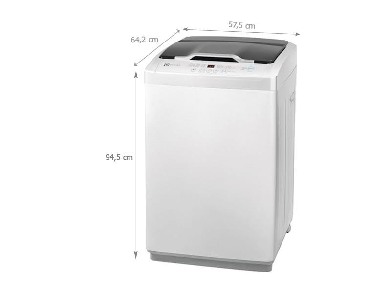 Kích thước kỹ thuật của máy giặt lồng đứng Electrolux EWT8541EU