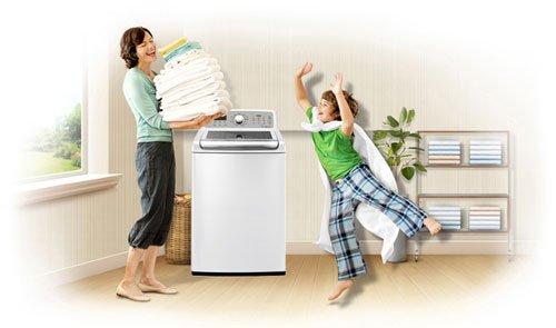 Máy giặt đáp ứng tối đa nhu cầu sử dụng của khách hàng