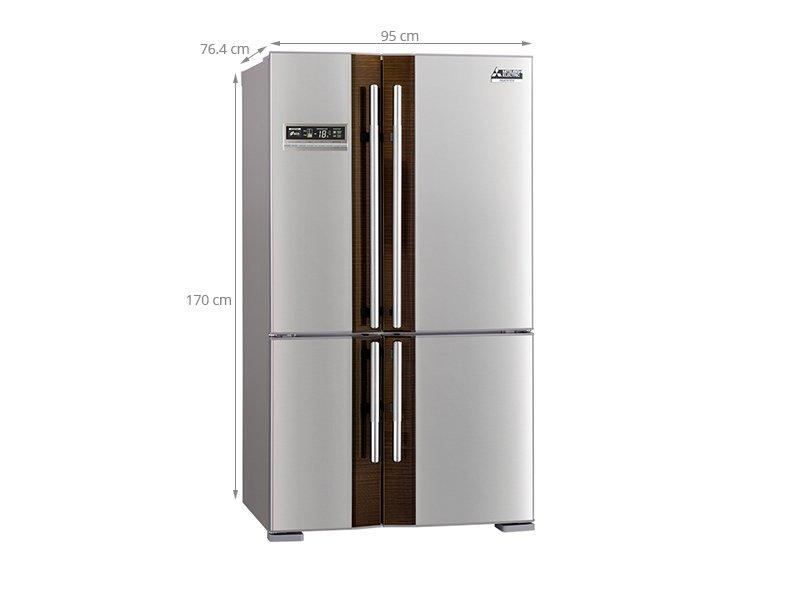 Thông số kỹ thuật của tủ lạnh Mitsubishi Electric 580 lít MR-L72EH- ST