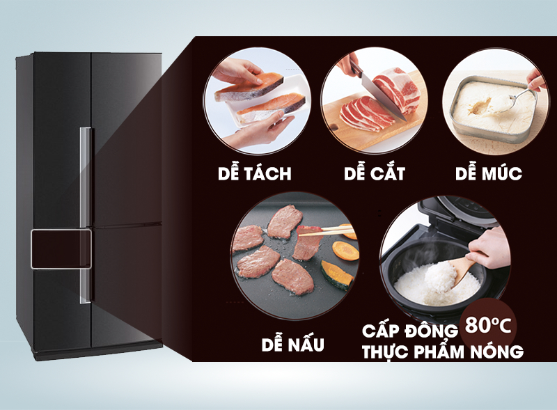 Người dùng có thể thoải mái chế biến thực phẩm mà không cần rã đông