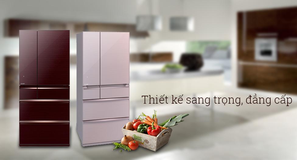 Vẻ đẹp hiện đại, sang trọng của dòng tủ lạnh cao cấp Mitsubishi