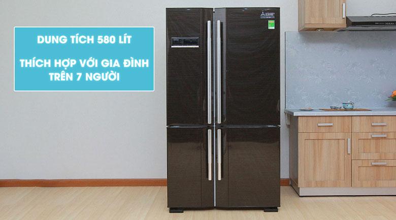 Đặc điểm nổi bật của tủ lạnh Mitsubishi Inverter 580 lít MR-L72EH-BRW