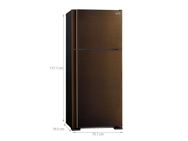 Thông số kỹ thuật của tủ lạnh Mitsubishi Electric 510 lít MR-F62EH-BRW