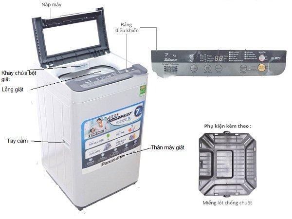 Cấu tạo của máy giặt Panasonic cửa trên