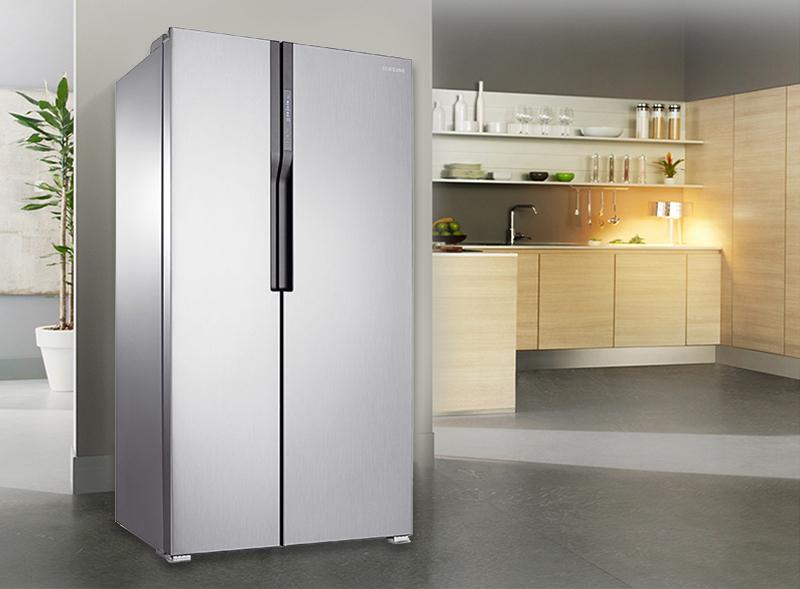 Tủ lạnh Samsung side by side 548 lít RS552NRUASL/SV