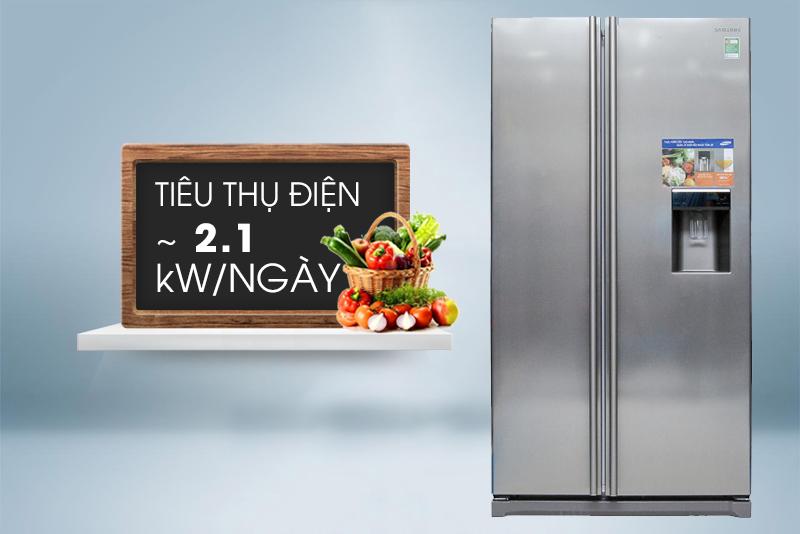 Tủ lạnh Samsung side by side 543 lít RSA1WTSL1/XS có công nghệ inverter  tiết kiệm điện vượt trội