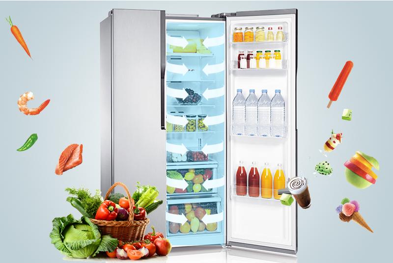 Hệ thống luồng khí giúp làm mát đồng đều toàn bộ tủ lạnh