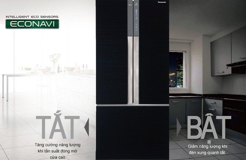 Tiết kiệm điện năng tiêu thụ hiệu quả nhất với cảm biến Econavi với tủ lạnh Inverter NR-CY558GKVN