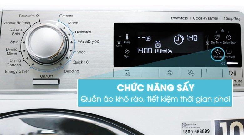 Tính năng mới lạ có trên dòng sản phẩm máy giặt Electrolux Inverter 10 kg EWW14023