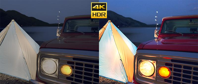 Chất lượng đạt chuẩn lên đến 4K HDR