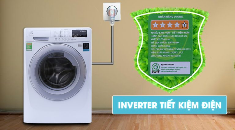 Máy giặt Electrolux tiết kiệm điện tối ưu