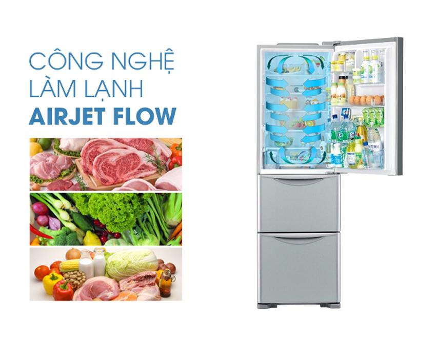 Công nghệ làm lạnh Air Jet Flow tiên tiến của các dòng sản phẩm tủ lạnh Hitachi