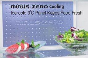 Công nghệ làm lạnh Minus Zero tiên tiến giúp bảo quản thực phẩm tươi ngon