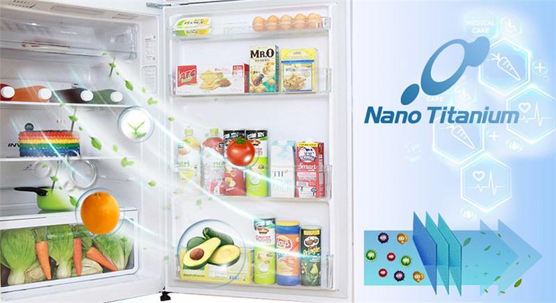 Hệ thống khử mùi Nano Titanium giúp thực phẩm luôn được bảo quản tươi ngon