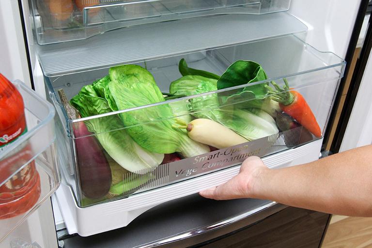 Ngăn đựng rau củ có nhiệt độ và độ ẩm thích hợp