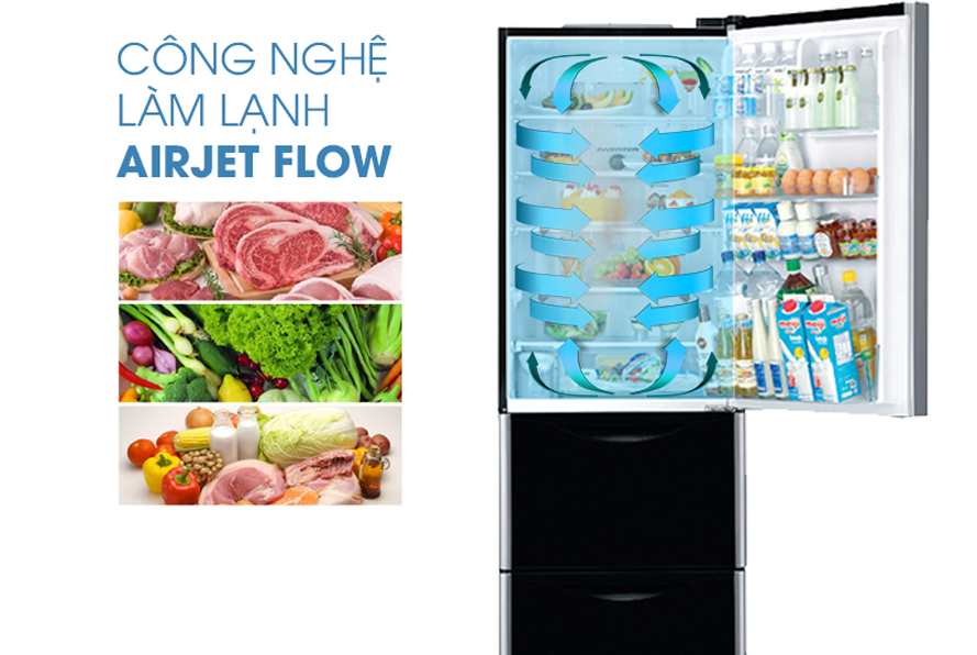 Hệ thống làm lạnh Air Jet Flow hiện đại giúp làm lạnh hiệu quả