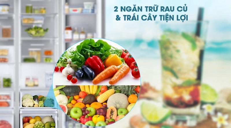 Bảo quản rau củ quả tốt hơn với ngăn chứa riêng cho rau củ - Tủ lạnh Samsung Inverter 620 lít RH58K6687SL/SV
