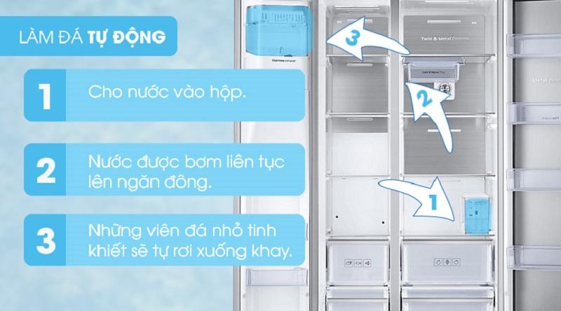 Giúp ích cho bạn với khả năng tự làm đá - Tủ lạnh Samsung Inverter 620 lít RH58K6687SL/SV