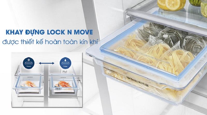 Hạn chế lẫn mùi với khay đựng Lock N Move - Tủ lạnh Samsung Inverter 620 lít RH58K6687SL/SV