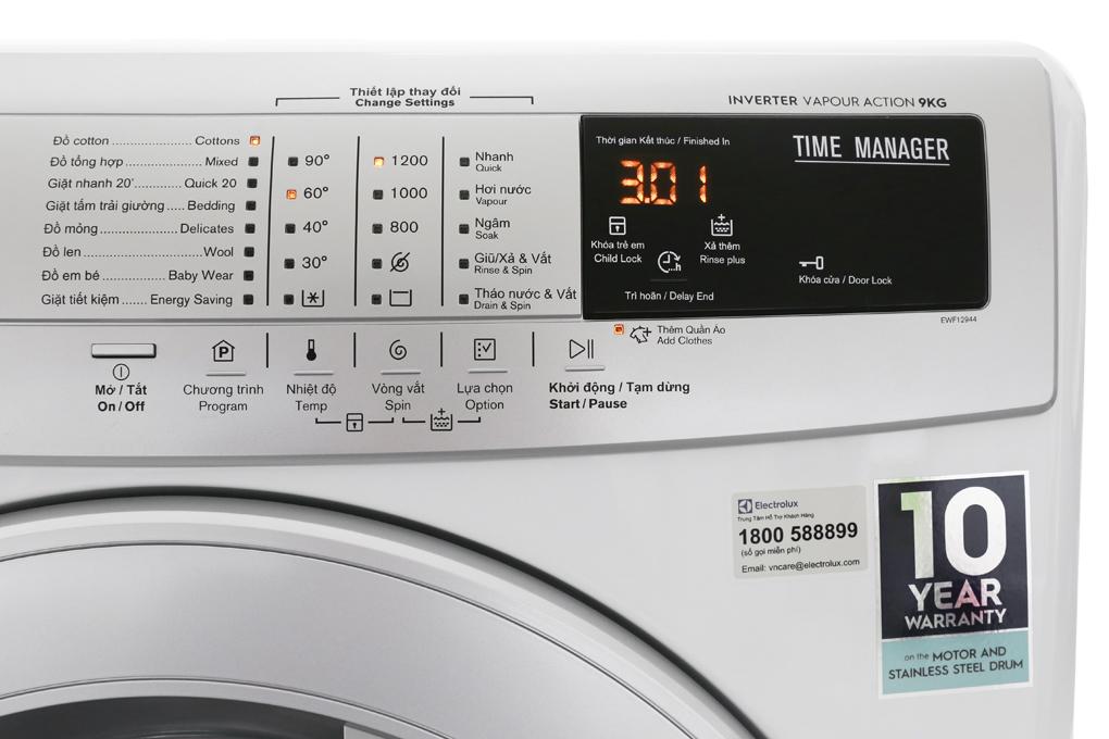 Có nhiều chương trình giặt phong phú