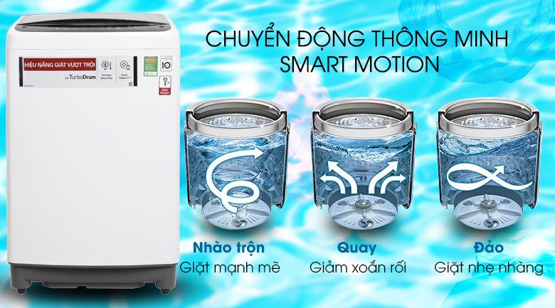 Smart Motion - Máy giặt LG Inverter 8.5 kg T2385VS2W