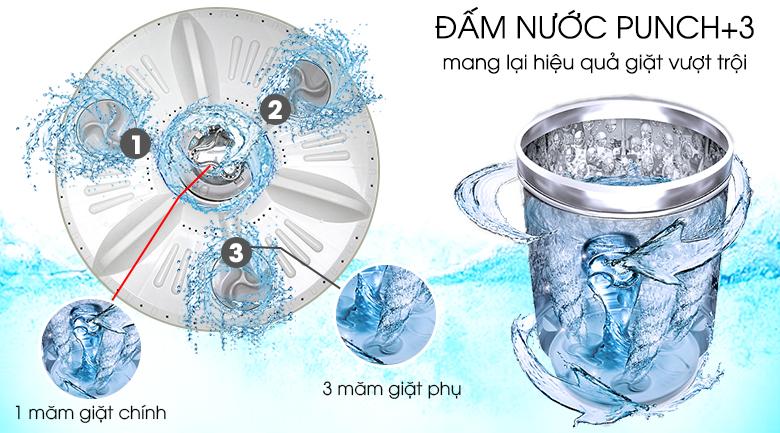 Đấm nước Punch+3 - Máy giặt LG Inverter 8.5 kg T2385VS2W