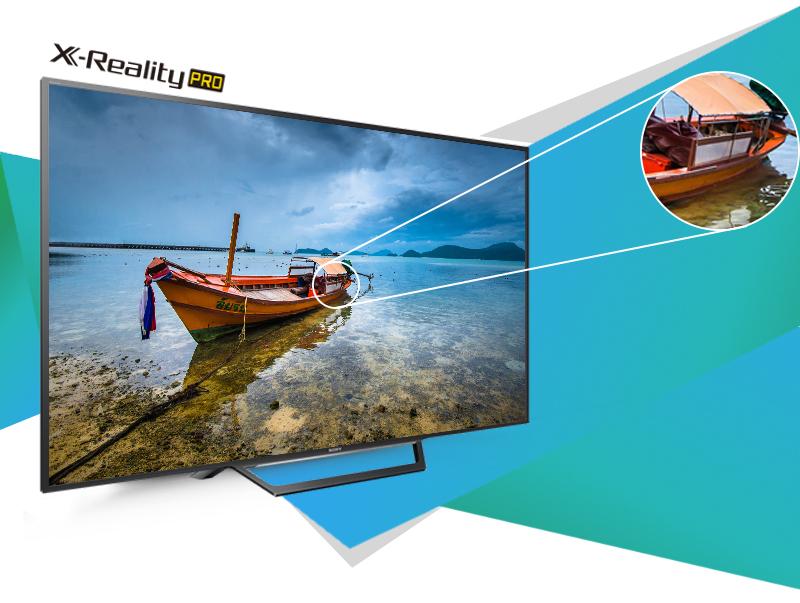 Độ phân giải HD và công nghệ độc quyền X-Reality PRO giúp hình ảnh sắc nét trên Tivi Sony 32W600D