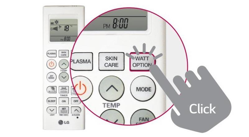 Thiết kế của điều khiển điều hòa LG V24ENF 21.500BTU
