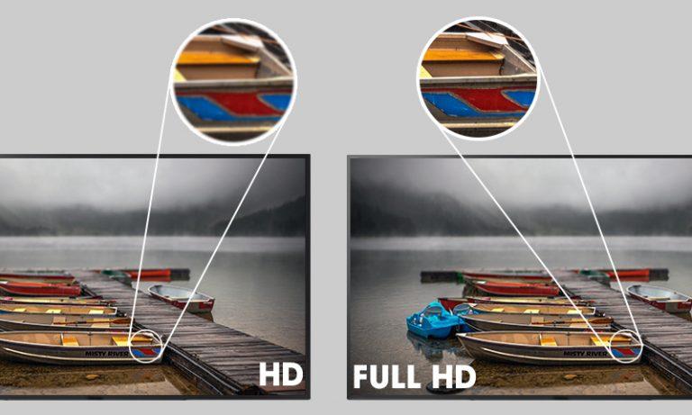 Sự khác biệt giữa chế độ HD và full HD
