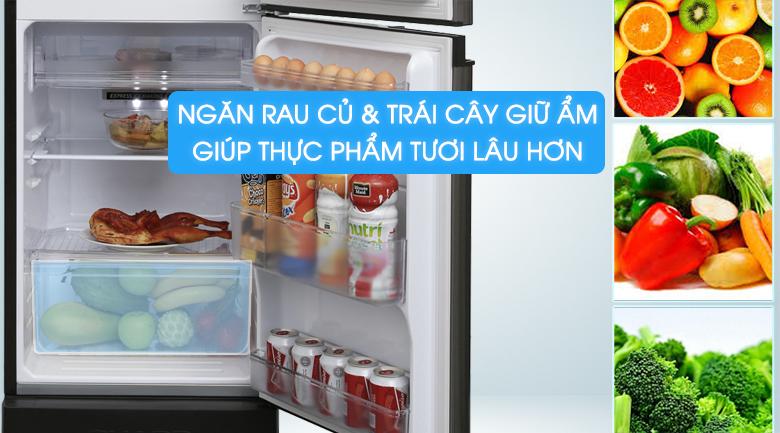 Tủ lạnh Sharp Inverter 165 lít SJ-X176E-SL - Ngăn rau củ giữ tươi thực phẩm lâu hơn