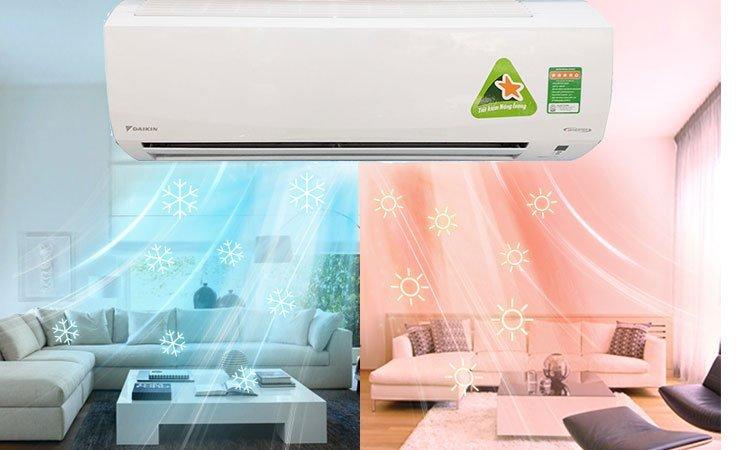 Thiết kế máy 2 chiều có khả năng giữ nhiệt độ ổn định mọi lúc.