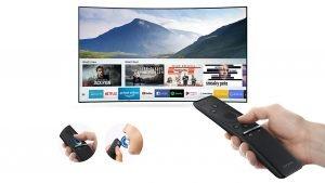 Smart tivi Samsung 65 inch 65NU7500KXXV đi kèm chiếc điều khiển tiện ích