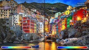 Dải màu mở rộng mang tới hình ảnh sống động