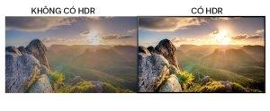 Sự khác biệt lớn giữa hình ảnh không có và có sử dụng công nghệ HDR