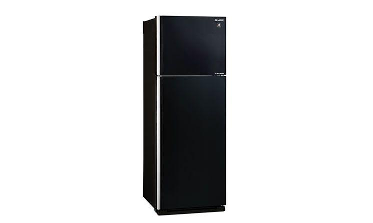 Tủ lạnh Sharp Inverter 394 lít SJ-XP435PG-BK có thiết kế mặt gương quyến rũ, sang trọng