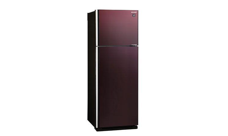 Thiết kế tủ lạnh Sharp Inverter 394 lít SJ-XP435PG-BR có thiết kế mặt gương sang trọng