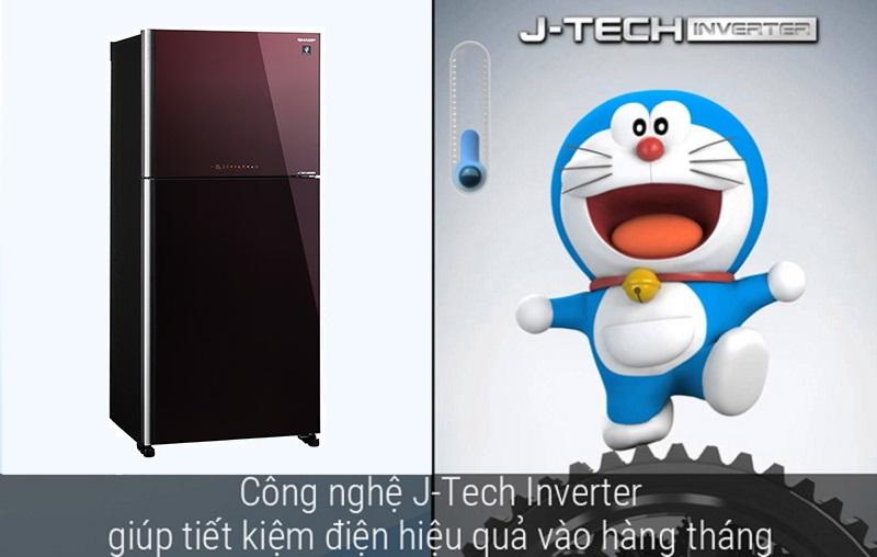 Công nghệ J-Tech Inverter cho khả năng vận hành êm ái, bền bỉ, tiết kiệm điện năng