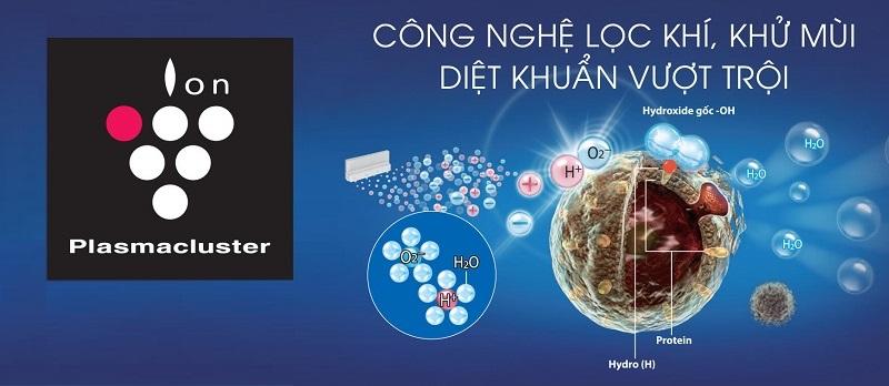 Công nghệ Plasmacluster Ion độc quyền mang lại khả năng diệt khuẩn vượt trội